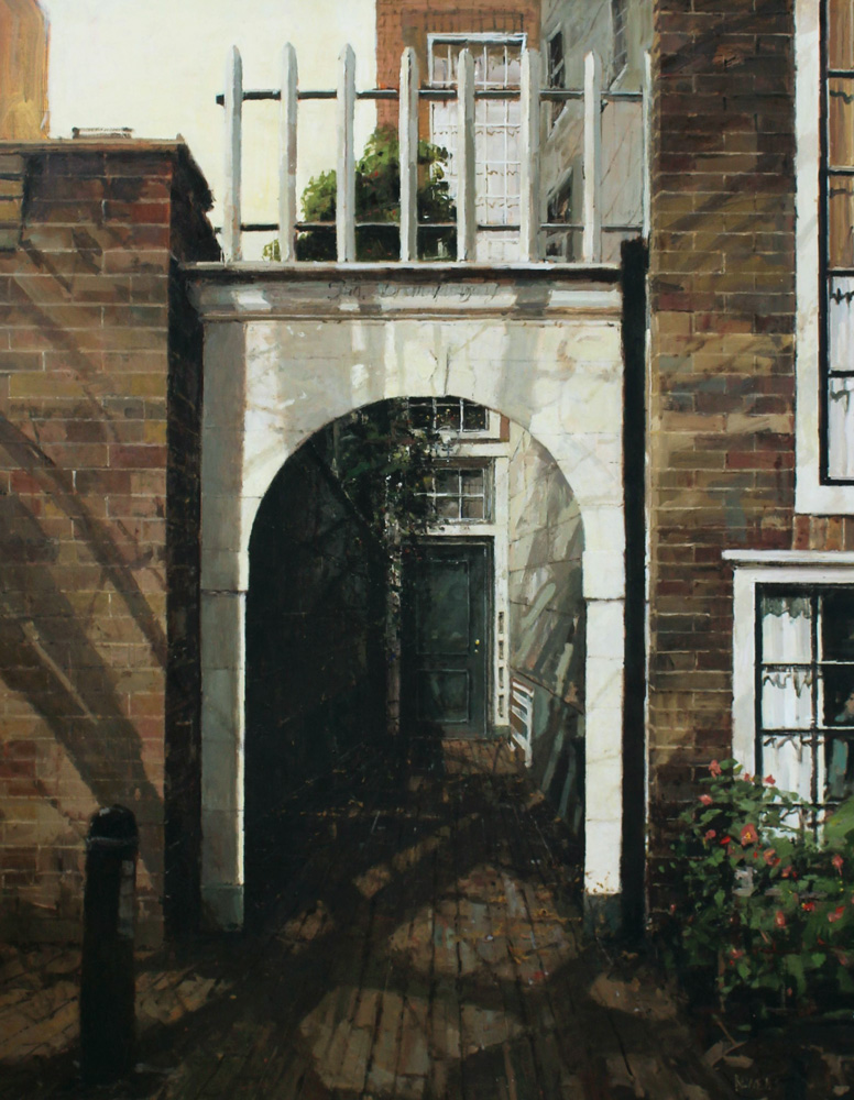 Amsterdam Doorway oil on canvas 56x48 inches Towner Gallery Public Collection