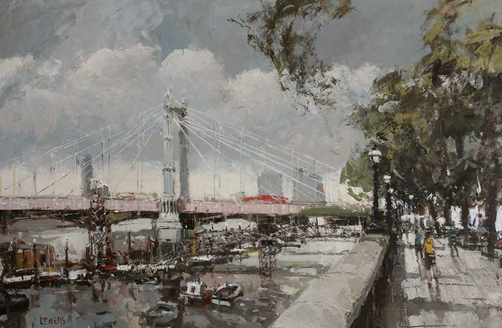 Albert Bridge 24 inches x 36 inches Oil on Panel
