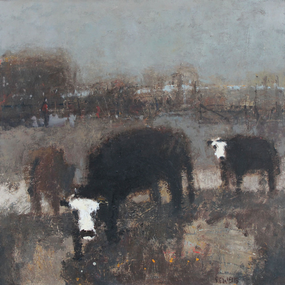 """Cows Pevensey 16""""x16"""" SOLD"""